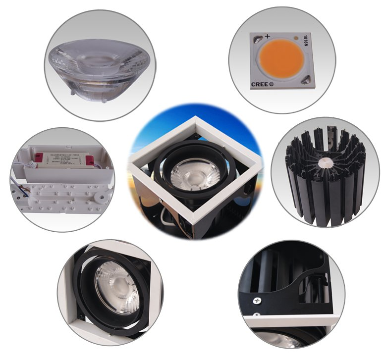 Custom highperformance LED Recessed Spotlight 6w 4 inch recessed lighting