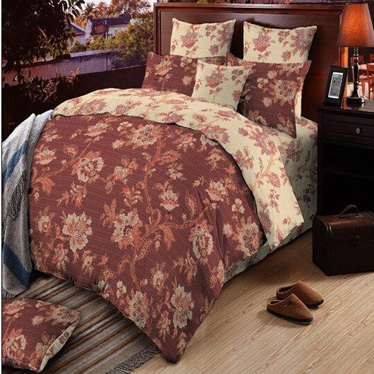 cotton lovely magnolia 300tc Daphne Cotton Bedding Sets