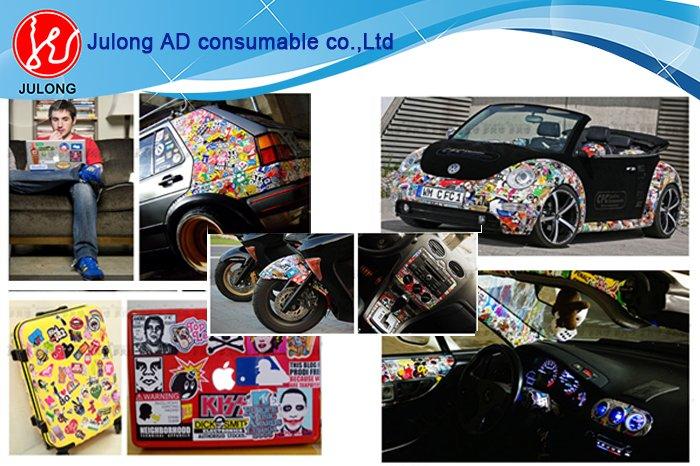 Hello Kitty Bomb pvc color cutting sticker