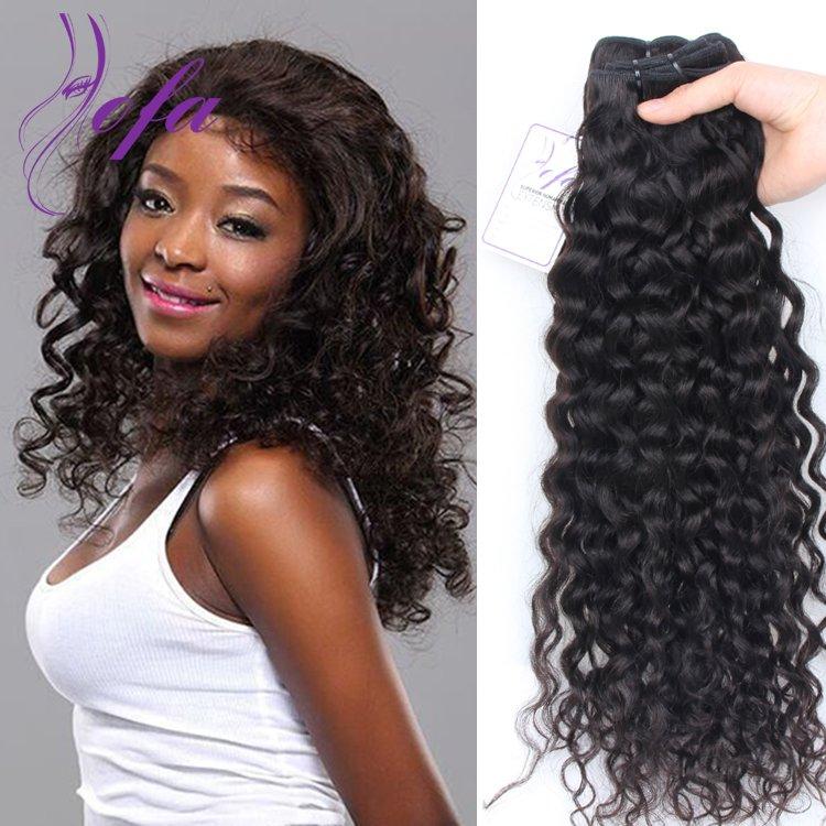 Shiny Brazilian Hair Weft Aofa Loose Curly Virgin Hair Full Bundles