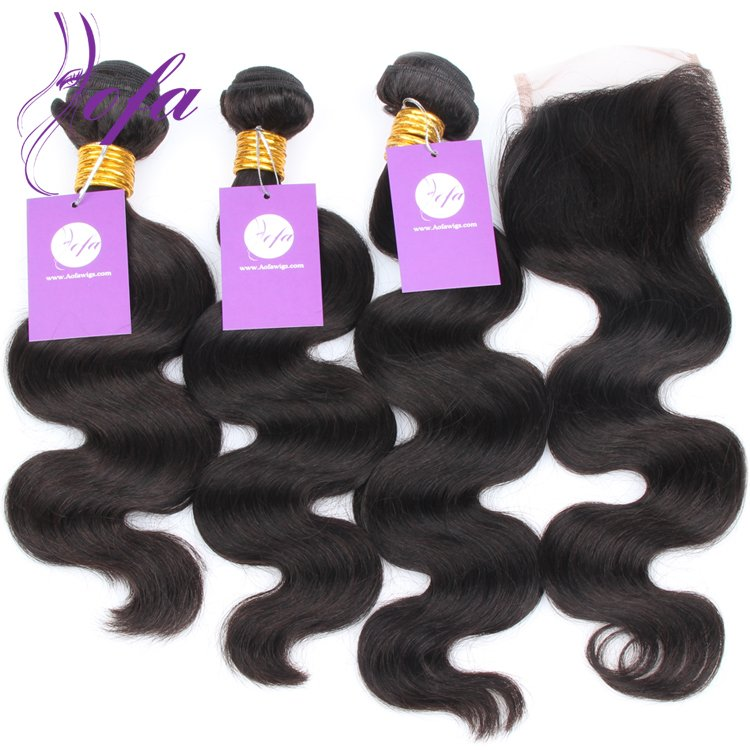 virgin loose wave hair bundles with closure