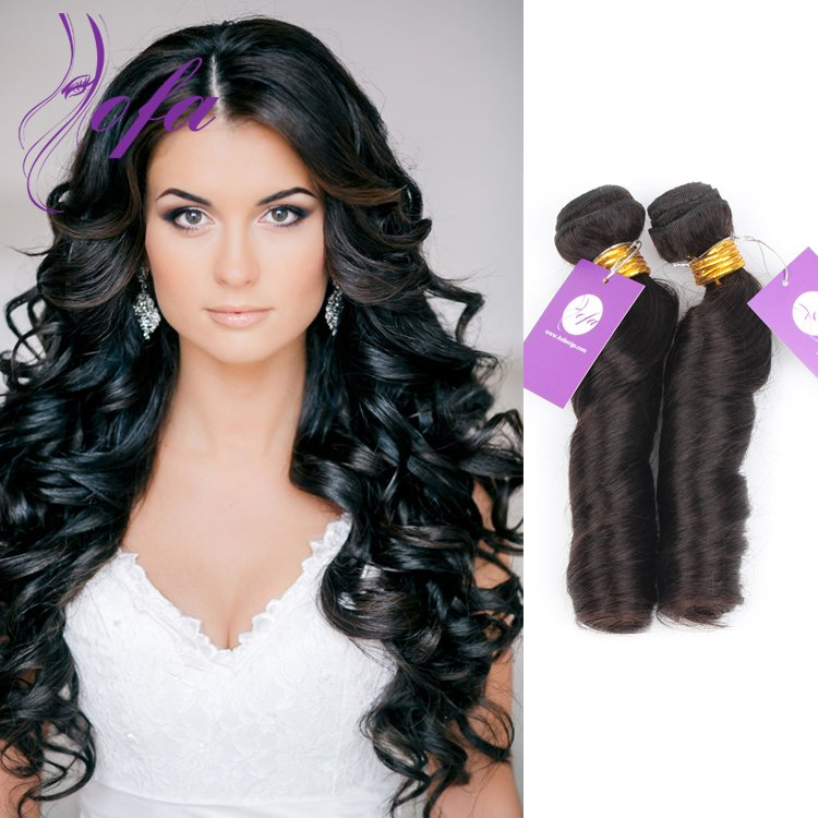 Spring curl Peruvian virgin hair weave