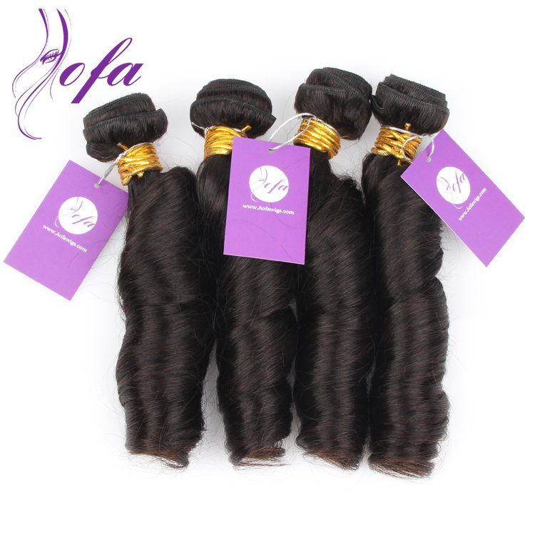 spring curl remy hair weave
