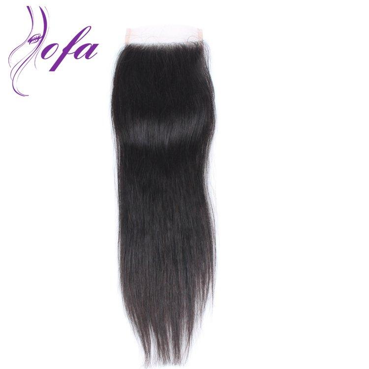 Brazilian straight hair closures