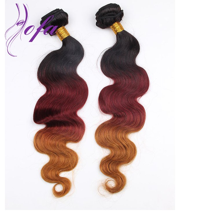 red hair color ombre