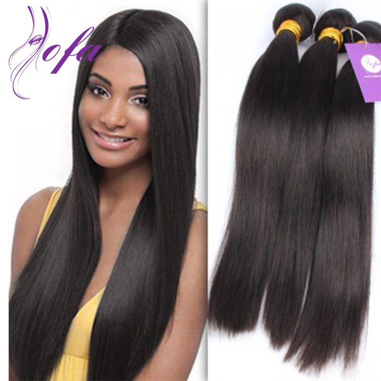 Soft and Silky Remy Virgin Peruvian Straight Weft Hair Weave