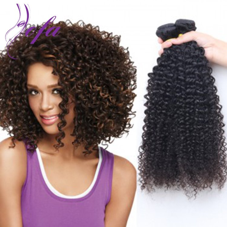6A Virgin Indian Kinky Curly Double Weft Hair Extensions Weave