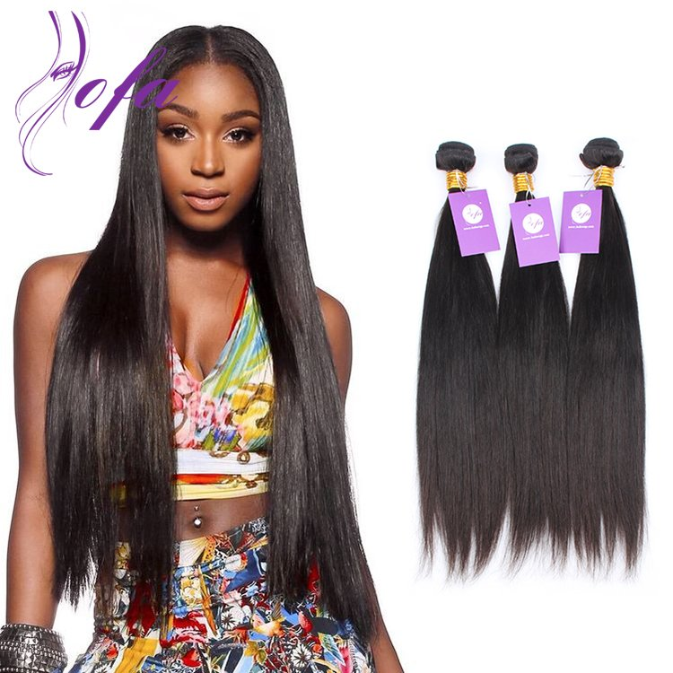 100 Human Virgin Brazilian Straight Hair Extensions Sale