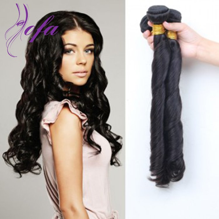 Unprocessed Superior Remy Virgin Brazilian Spring Curl Hair Weave  Weft